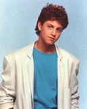 Kirk Cameron in White Coat Skyblue Background Portrait Photo by  Movie Star News