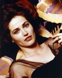 Kim Delaney Lying in Black Dress Close Up Portrait Photo by  Movie Star News