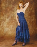 Marg Helgenberger in Blue Gown Portrait Photo by  Movie Star News