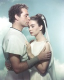 Richard Burton White Background Couple Portrait Photo by  Movie Star News