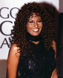 Pam Grier smiling in Black Dress Photo by  Movie Star News