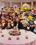 Jim Henson Dining with Sesame Street Cast Photo by  Movie Star News