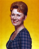 Marion Ross smiling in Blue Checkered Dress Portrait Photo by  Movie Star News