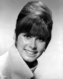 Stefanie Powers smiling in Black and White Close Up Portrait wearing Winter Coat Photo by  Movie Star News