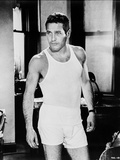 Paul Newman in Gym Outfit Black and White Photo by  Harper