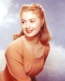 Shirley Jones Close Up Portrait in Orange Long Sleeve Empire Pleated Dress Photo by  Movie Star News