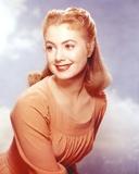 Shirley Jones Close Up Portrait in Orange Long Sleeve Empire Pleated Dress Photo by  Movie Star News