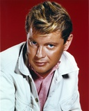 Troy Donahue Red Background Close Up Portrait Photo by  Movie Star News