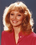 Shelley Long wearing a Red Tunic in a Close Up Portrait Photo by  Movie Star News