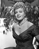 Shelley Winters Portrait in Black Linen Shoulder Dress Photo by  Movie Star News