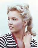 Tuesday Weld On Side in Stripe Dress Photo by  Movie Star News