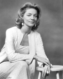 Lauren Bacall Posed in Black and White Photo by  Movie Star News