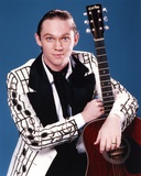 Richard Thomas Holding a Guitar in White Coat Photo by  Movie Star News