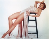 Juliet Prowse Posed in White Gown Photo by  Movie Star News