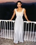 Joan Chen Posed in White Dress Photo by  Movie Star News