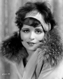 Clara Bow Posed with Furry Shawl Photo by ER Richee
