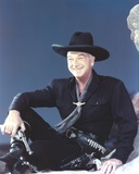 William Boyd Posed in Black Long Sleeve with Hat Photo by  Movie Star News