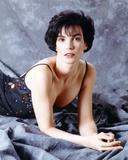 Terri Garber Lying in Black Beaded Spaghetti Dress Photo by  Movie Star News