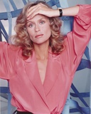 Lauren Hutton Posed in Red Dress Photo by  Movie Star News