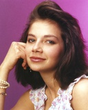 Justine Bateman with Purple Background Close Up Portrait Photo by  Movie Star News