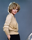 Sharon Gless on Shiny Knitted Gold Top Side view Pose Photo by  Movie Star News