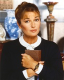 Stephanie Beacham Posed in a Portrait hugging Bible Photo by  Movie Star News