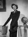 Myrna Loy Posed in Long Sleeve Blouse with Gloves Photo by Gaston Longet