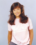 Justine Bateman smiling in Pink Shirt Photo by  Movie Star News