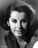 Stefanie Powers smiling and Looking Away in Black and White Close Up Portrait Photo af Movie Star News