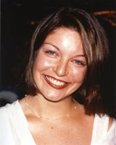 Sheryl Lee Close Up Portrait in White Silk Dress and Silver Necklace Photo by  Movie Star News