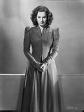 Maureen O'Hara in Formal Dress Black and White Photo by E Bachrach