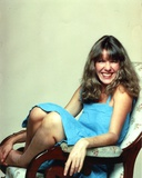 Jill Clayburgh Seated in Blue Dress Photo by  Movie Star News