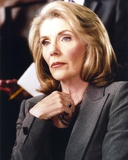 Jill Clayburgh Portrait in Blue Coat Photo by  Movie Star News