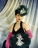 Maria Montez Posed in Black Dress With Gloves Photo by  Movie Star News