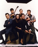 Tom Scott Group Picture with Musical Instrument Photo by  Movie Star News
