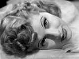Lucille Ball Lying in Black and White Photo by E Bachrach