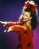 Tracey Ullman Portrait in Red Dress Photo by  Movie Star News