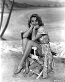Joan Blondell sitting on an Actor's Chair Photo by  Movie Star News