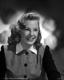 June Allyson Curly Hairdo smiling in Black and White Dress Photo by  Movie Star News