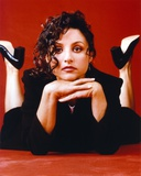 Julia Louis Dreyfus Red Background Portrait Photo by  Movie Star News