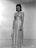 Ann Gillis on a Silk Long Gown Portrait Photo by  Movie Star News