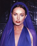 Sarah Brightman Close Up Portrait in Blue Dress Photo by  Movie Star News