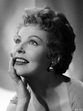 Arlene Dahl posed with Hand on Chin Photo by  Movie Star News