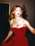 Angel Tompkins Portrait in Sexy Red Dress Photo by  Movie Star News