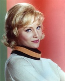 Susan Oliver wearing a White Long Sleeve Blouse on Red Background Photo by  Movie Star News