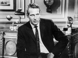 Paul Newman Seated in Classic Photo by  Harper