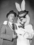 Art Carney with A Mascot Portrait Photo by  Movie Star News
