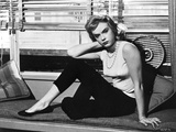 Anne Francis posed in Portrait Beside the Windows Photo by  Movie Star News