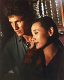 Twin Peaks Movie Scene with Joan Chen and Michael Ontkean Portrait Photo by  Movie Star News