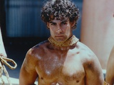 Adrian Pasdar Leashed on the Neck Topless Close Up Portrait Photo af Movie Star News